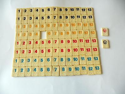 Travel Rummikub Tiles x 105 - Replacement/Spare Parts - Missing 1 tile for a set