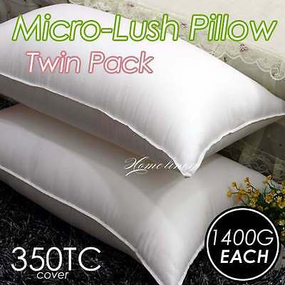 5 Star LUXURY SOFT MICRO-LUSH PILLOW EASY CARE - TWIN PACK