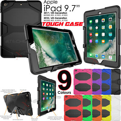 """Apple iPad 9.7"""" 2017 Tough HEAVY DUTY Shock Proof Protective Survival Case Cover"""