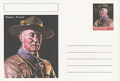 CINDERELLA - 3942 - BADEN POWELL  featured on fantasy Postal Stationery card