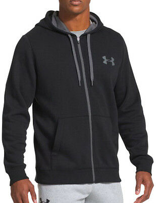 Under Armour Rival Cotton Full Zip Mens Hoody - Black