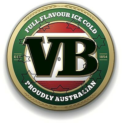 Vb Beer Vic Bitter Decal Sticker Label 9 Inch Dia 230 Mm Hot Rod Fridge Bar