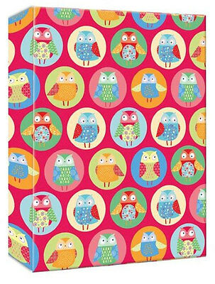 Fashion Youth Funky Owls 6'' x 4'' - 10x15cm Slipin Photo Album Holds 80 Photos