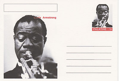 CINDERELLA - 3951 - LOUIS  ARMSTRONG  featured on fantasy Postal Stationery card