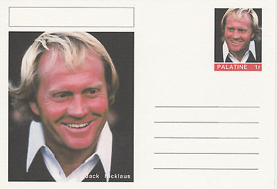 CINDERELLA - 3952 - JACK NICKLAUS  featured on fantasy Postal Stationery card