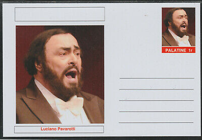 CINDERELLA - 3956 - LUCIANO PAVAROTTI featured on fantasy Postal Stationery card
