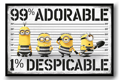 Framed Despicable Me 3 99% Adorable Poster New