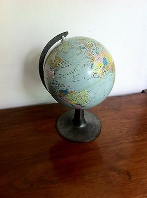 DECORATIVE 1976 SCAN GLOBE MADE IN DENMARK 9.5 inches