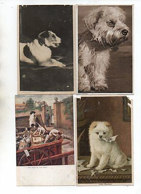 18 VINTAGE postcards of DOGS & PUPPIES