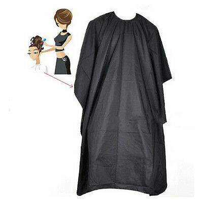New Black HAIRDRESSERS CAPE Gown Barbers Salon Adult Cloth Hair Cut Dye Cover