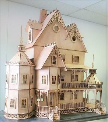 Dolls House Ashley Victorian Mansion Miniature 1:12 Lazer Cut  Flat Pack Kit