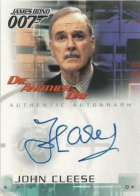 """James Bond Die Another Day - A1 John Cleese """"Q"""" Autograph Card"""