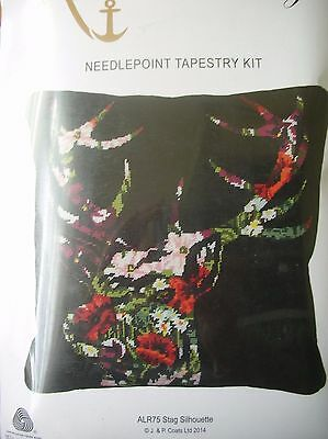 "Tapestry Kit Needlepoint "" Stag Silhouette "" New  by Anchor 15.75"" x 15.75"""
