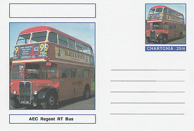 CINDERELLA - 3958 - LONDUN RT BUS on Fantasy Postal Stationery card