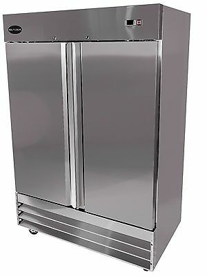 SABA Heavy Duty Commercial Reach-In Refrigerator (Two Door, Stainless) Cooler