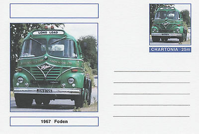 CINDERELLA - 3963 - TRUCKS - FODEN on Fantasy Postal Stationery card