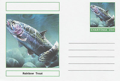 CINDERELLA - 3970 - FISH - RAINBOW TROUT on Fantasy Postal Stationery card