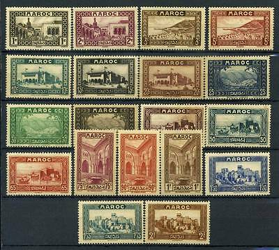 17-04-00244 - Morocco 1933 Yv.  128-143,144-145 MH 60% 5 c. * mint Monuments