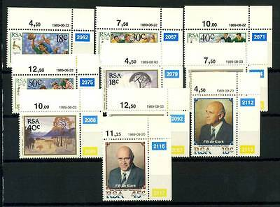 17-04-00403 - South Africa 1989 Mi.  775-784 MNH 100% Rugby Painting Dlerk Art
