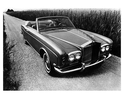 1969 Rolls Royce Silver Shadow Convertible Factory Photo uc1483