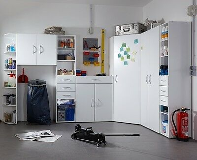 "GENIUS ""Any Room"" Versatile Shelving Storage Cupboard Wardrobe Solution. White."