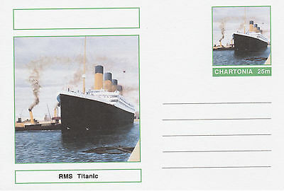 CINDERELLA - 3976 - SHIPS - RMS TITANIC  on Fantasy Postal Stationery card