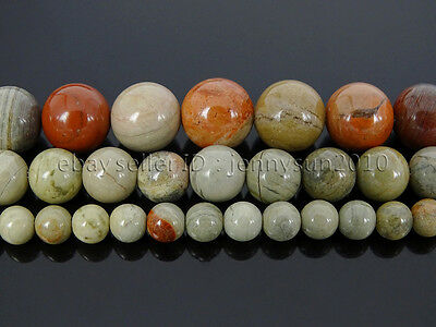 Natural Silver Mist Jasper Gemstone Round Beads 15.5'' 4mm 6mm 8mm 10mm 12mm