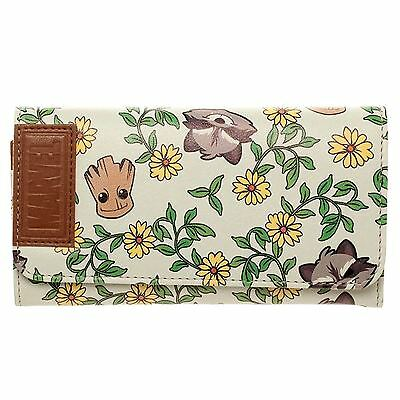 Officially Licensed Guardians of The Galaxy Large Groot and Rocket Flowers Purse