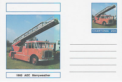 CINDERELLA - 3986 - MERRYWEATHER FIRE ENGINE on Fantasy Postal Stationery card