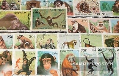 Motives 50 different Monkeys-Stamps