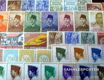 Indonesia 50 different stamps