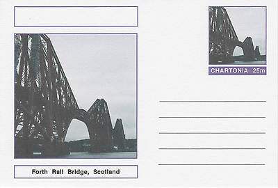 CINDERELLA - 3988 - FORTH RAIL BRIDGE on Fantasy Postal Stationery card