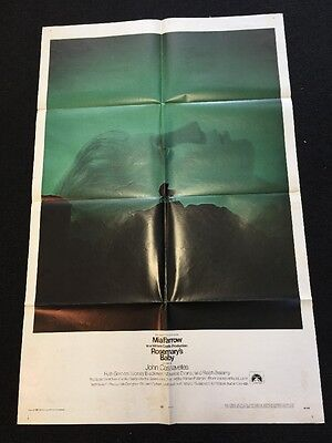 ROSEMARY'S BABY * CineMasterpieces ORIGINAL MOVIE POSTER MIA FARROW HORROR 1968