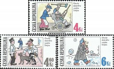 czech republic 153-155 (complete.issue.) unmounted mint / never hinged 1997 humo