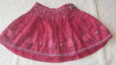 Monsoon 2-3 years PINK SKIRT Girls Clothing Summer Floral Patterned