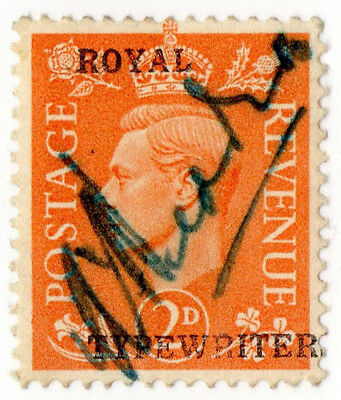 (I.B) George VI Commercial Overprint : Royal Typewriters