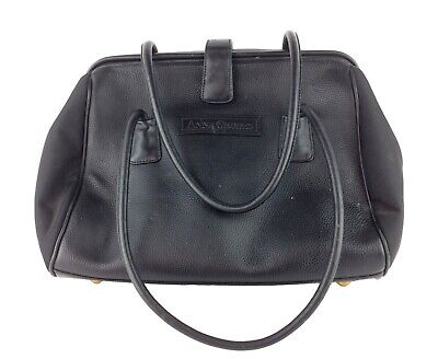 Anne Geddes Large Black Leather Diaper Bag Excellent Condition MANY Pockets NICE