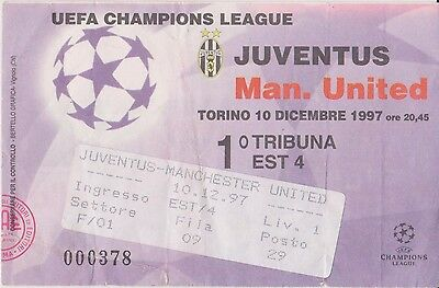 Manchester United V Juventus   Away Champions League  Ticket Stub 10/12/97
