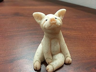 """2000 Quarry Critters """"Pixy"""" Pig, Second Nature Designs, Soapstone, 2.5"""""""