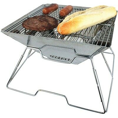 Yellowstone Steel Pac Flat Bbq Barbeque (Silver)