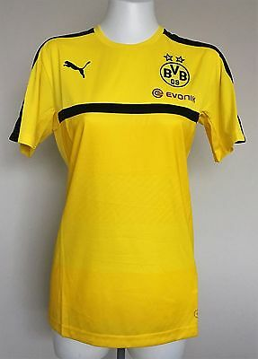 Borussia Dortmund 2016/17 Yellow Training Jersey By Puma Size Medium Brand New