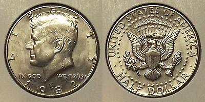 1982-D KENNEDY HALF DOLLAR 50c COIN
