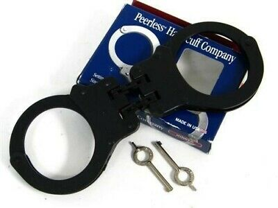 Peerless Handcuffs Black Oxide Model 802C Hinged + Keys