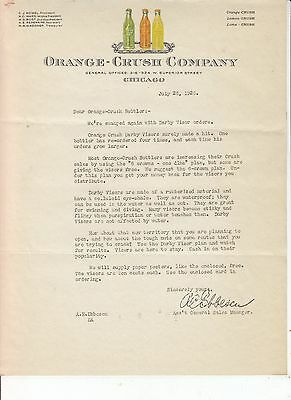 Orange-Crush Company Chicago Letterhead  July 28, 1926