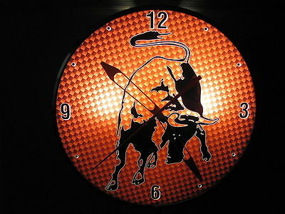 Lamborghini Vintage Pam Style Electric Wall Clock With Bull---Unique Design