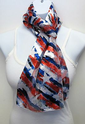 Wholesale Scarf Lot 6 PCS American Flag Red White Blue Star Print Scarves # 4005