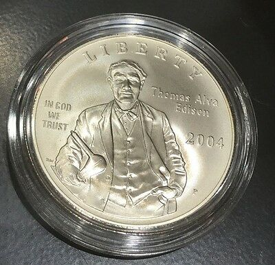2004-P Thomas Alva Edison Commemorative Silver Dollar