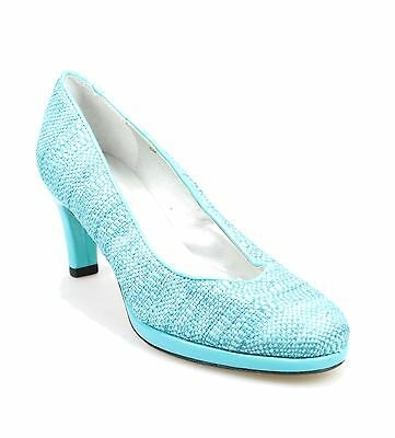 Vaneli NEW Blue Shoes Size 6.5W Fauna Pumps Classics Leather Heels $110- #089