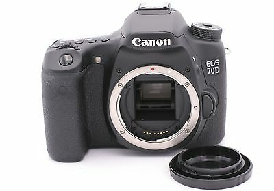 Canon EOS 70D 20.2MP Digital SLR Camera - Black (Body Only) - Shutter Count: 233