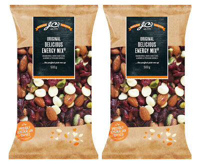 2 x J.C.'s Quality Foods Original Delicious Energy Mix 500g